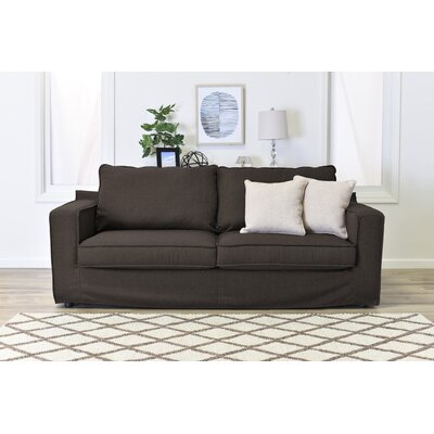 Colton Slipcover Sofa Upholstery: Brown