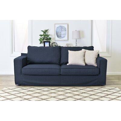 Colton Slipcover Sofa Upholstery: Navy