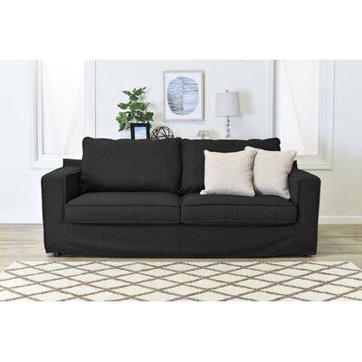 Colton Slipcover Sofa Upholstery: Charcoal