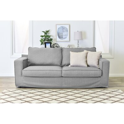 Colton Slipcover Sofa Upholstery: Light Gray