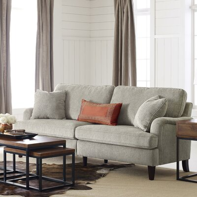 Carlisle 78 Sofa with Pleated Arms Upholstery: Beige