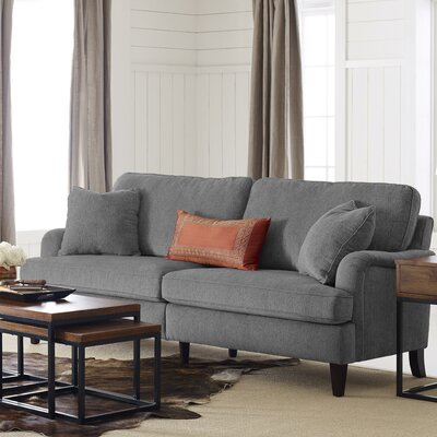 Carlisle 78 Sofa with Pleated Arms Upholstery: Gray