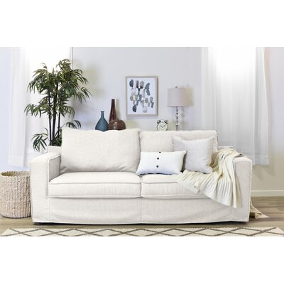 Colton Slipcover Sofa Upholstery: Cream