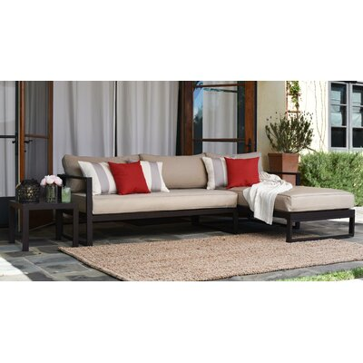 Catalina Outdoor Right Arm Sectional Piece with Cushions