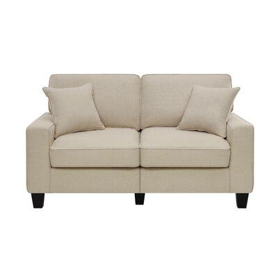 Palisades 61 Loveseat Upholstery: Vanilla Beige