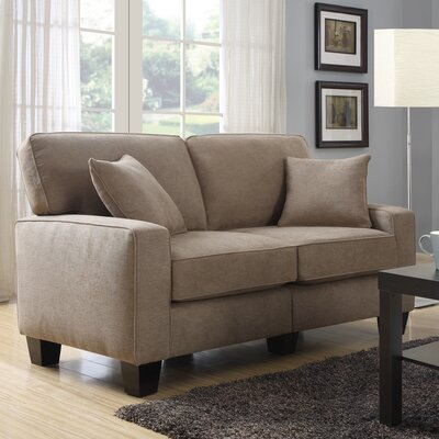 Palisades 61 Loveseat Upholstery: Fawn Tan
