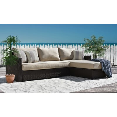 Laguna Outdoor Storage Right Arm Sectional Piece with Cushions