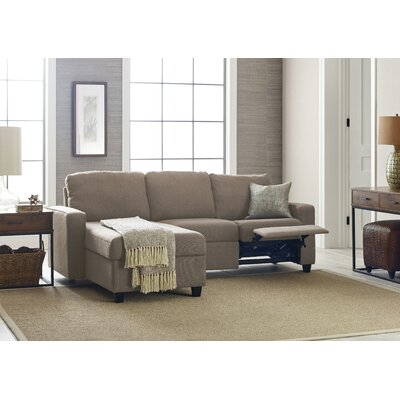 Palisades Reclining Sectional Color: Oatmeal, Orientation: Left Facing