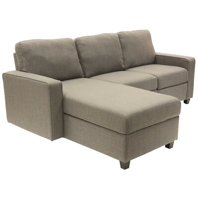 Palisades Reclining Sectional Color: Gray, Orientation: Right Facing