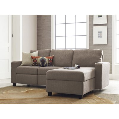 Palisades Reclining Sectional Color: Beige, Orientation: Left Facing