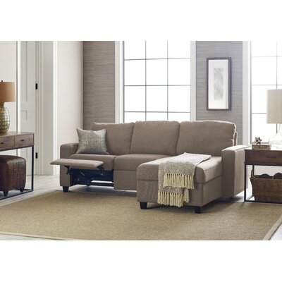 Palisades Reclining Sectional Color: Oatmeal, Orientation: Right Facing