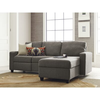 Palisades Reclining Sectional Color: Gray, Orientation: Left Facing