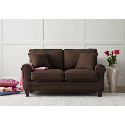 Copenhagen Loveseat Upholstery: Brown