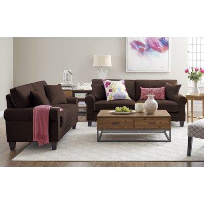 Serta� RTA Deep Seating Copenhagen 78 Sofa Upholstery: Brown