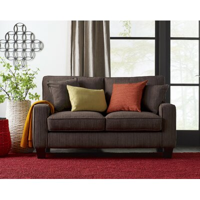 Palisades Loveseat Upholstery: Brown