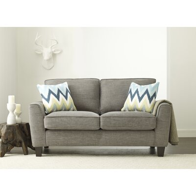 Astoria Loveseat Upholstery: Light Gray