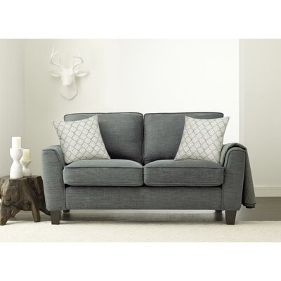 Serta� RTA Deep Seating Astoria 61 Loveseat Upholstery: Dark Gray