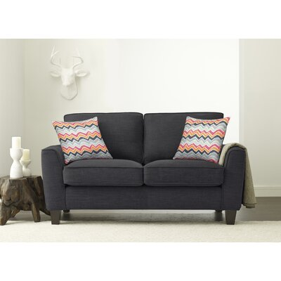 Serta� RTA Deep Seating Astoria 61 Loveseat Upholstery: Charcoal