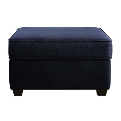 Olin Upholstered Ottoman with Storage Upholstery: Navy Blue
