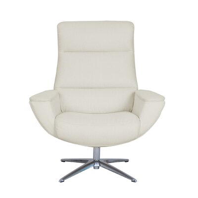 Logan Collaboration Swivel Armchair Upholstery: Ivory