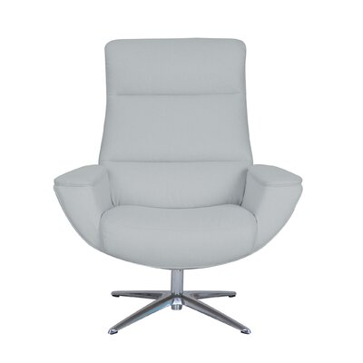 Logan Collaboration Swivel Armchair Upholstery: Light Gray