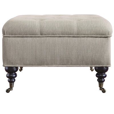 Abbot Square Tufted Ottoman Upholstery: Gray