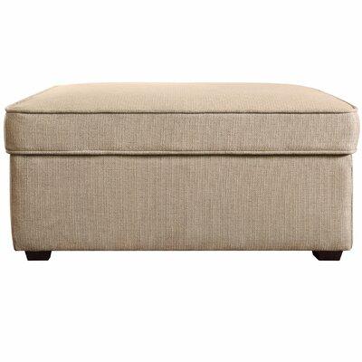 Olin Upholstered Ottoman Upholstery: Beige Linen