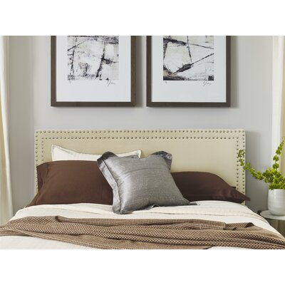 Serta Nova Upholstered Panel Headboard Color: Ivory, Size: Queen