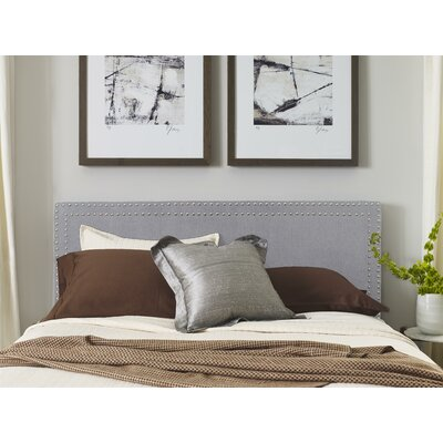 Serta Nova Upholstered Panel Headboard Color: Slate Gray, Size: King
