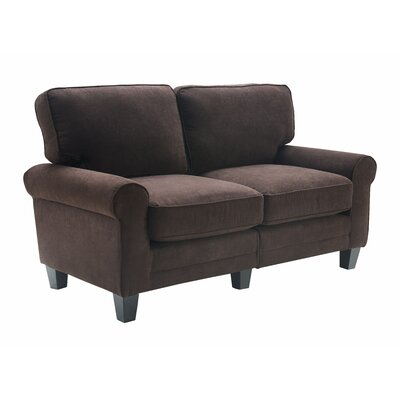 Serta� RTA Copenhagen 61 Loveseat Upholstery: Dark Brown