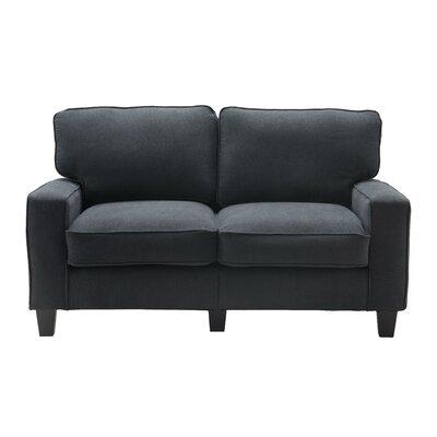 Serta� RTA Palisades 61 Loveseat Upholstery: Charcoal
