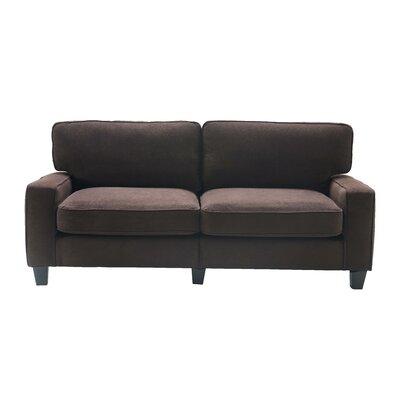 Serta� RTA Palisades 78 Sofa Upholstery: Dark Brown