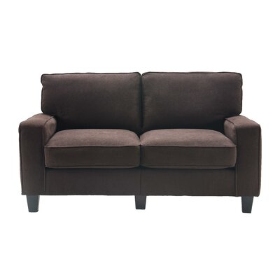 Serta� RTA Palisades 61 Loveseat Upholstery: Dark Brown