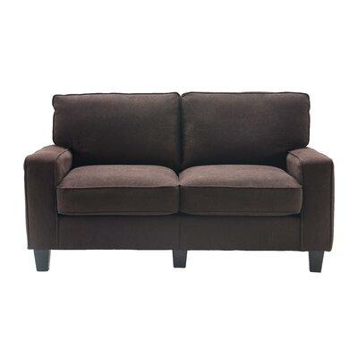 Serta� RTA Palisades 61 Loveseat Upholstery: Dark Brown
