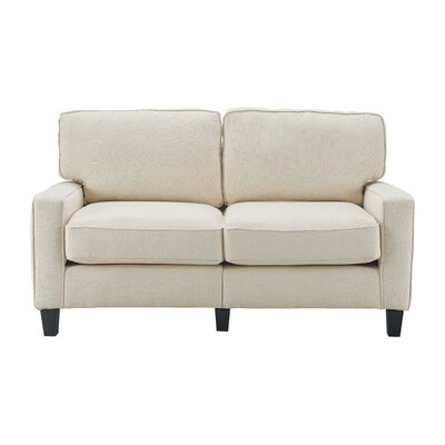 Serta� RTA Palisades 61 Loveseat Upholstery: Buttercream