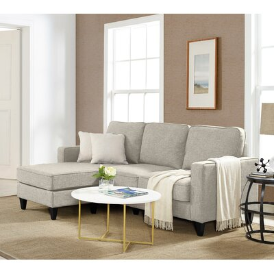 Palisades Sectional Upholstery: Ash Light Gray
