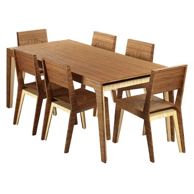 Hollow Dining Table Finish Chocolate