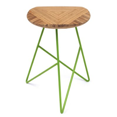 Acute 19 Bar Stool Color: Amber, Leg Color: Apple - Green
