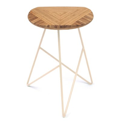 Acute 19 Bar Stool Color: Amber, Leg Color: Peach