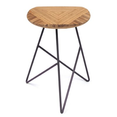 Acute 19 Bar Stool Color: Amber, Leg Color: Dark Plum