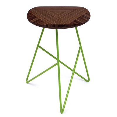 Acute 19 Bar Stool Color: Chocolate, Leg Color: Apple - Green