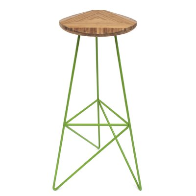 Acute 30 Bar Stool Color: Amber, Leg Color: Apple - Green