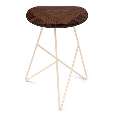 Acute 19 Bar Stool Finish: Chocolate, Leg Color: Peach
