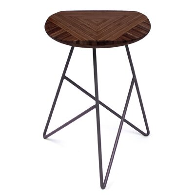 Acute 19 Bar Stool Finish: Chocolate, Leg Color: Dark Plum