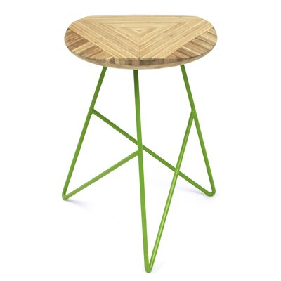 Acute 19 Bar Stool Color: Natural, Leg Color: Apple - Green