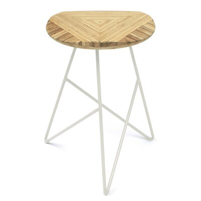 Acute 19 Bar Stool Finish: Natural, Leg Color: Cream
