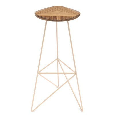 Acute 30 inch Bar Stool Leg Color: Peach, Finish: Amber