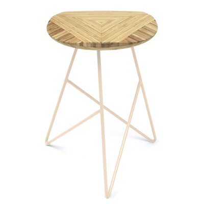 Acute 19 Bar Stool Color: Natural, Leg Color: Peach