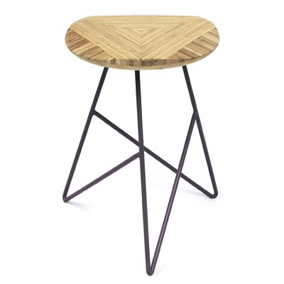 Acute 19 Bar Stool Finish: Natural, Leg Color: Dark Plum