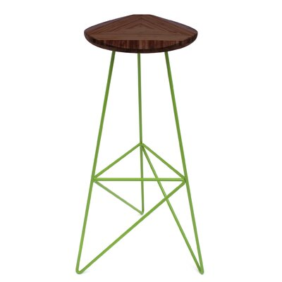 Acute 30 Bar Stool Finish: Chocolate, Leg Color: Apple - Green